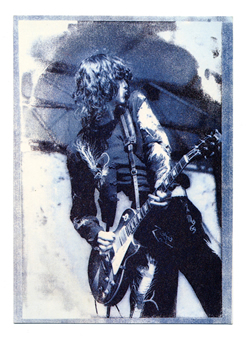 Andie Airfix Led Zeppelin Jimmy Page Blue